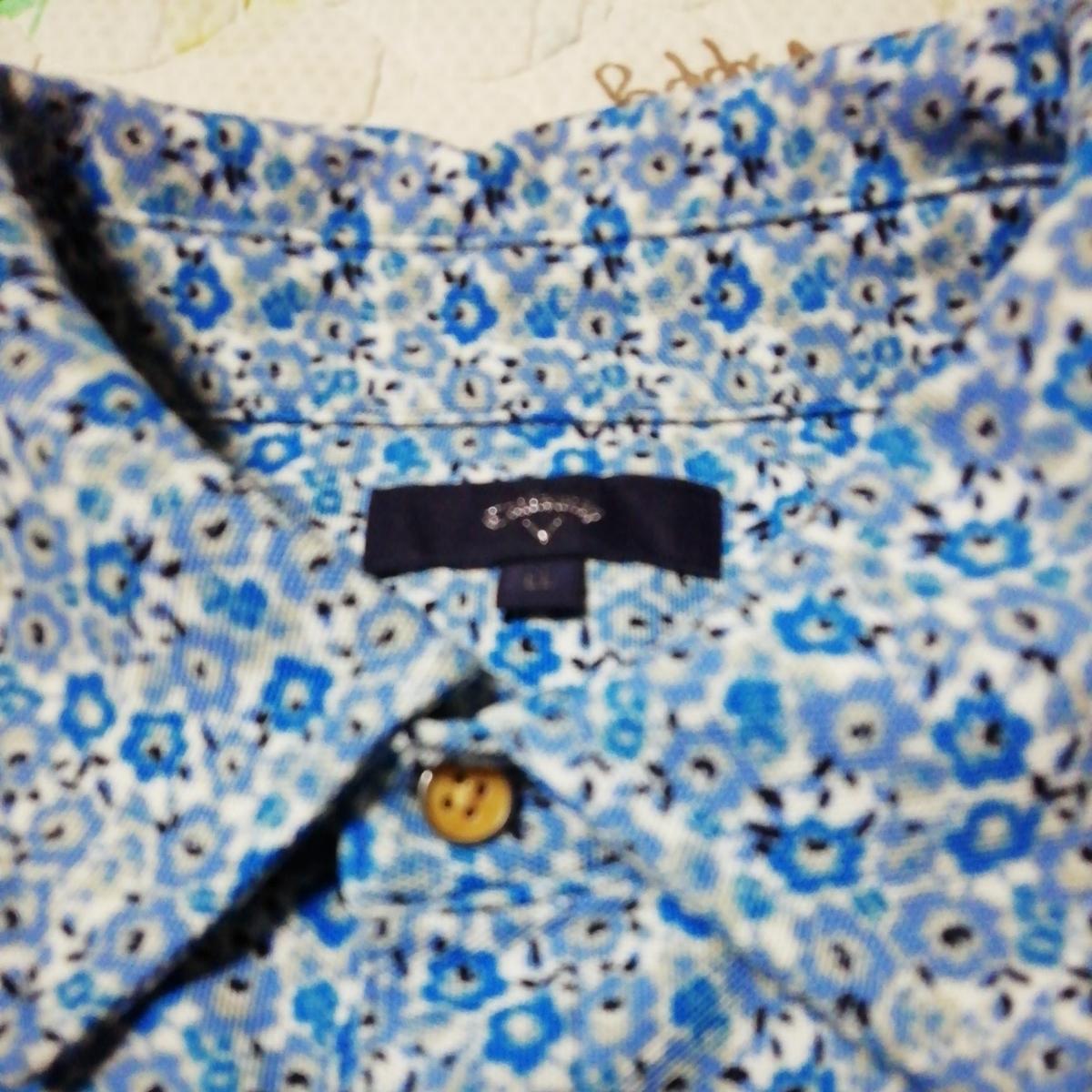 美品 キャロウェイ 小花柄半袖ポロシャツ LL_画像5
