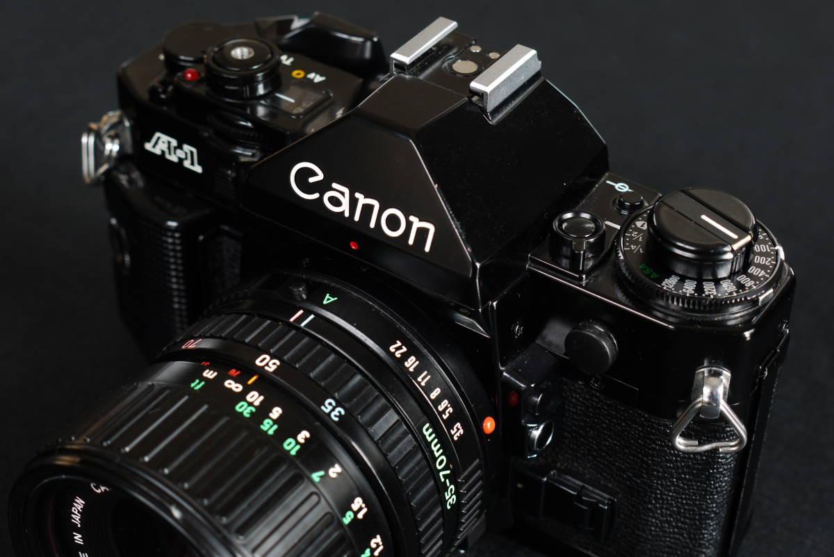 キャノンA1美品、動作品 レンズ5本_画像3