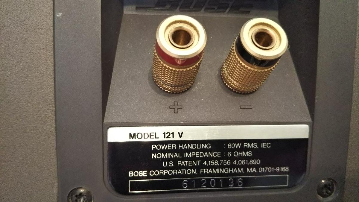 値下げしました!BOSE MODEL 121V ボーズ スピーカー ペア シリアル連番 _画像7
