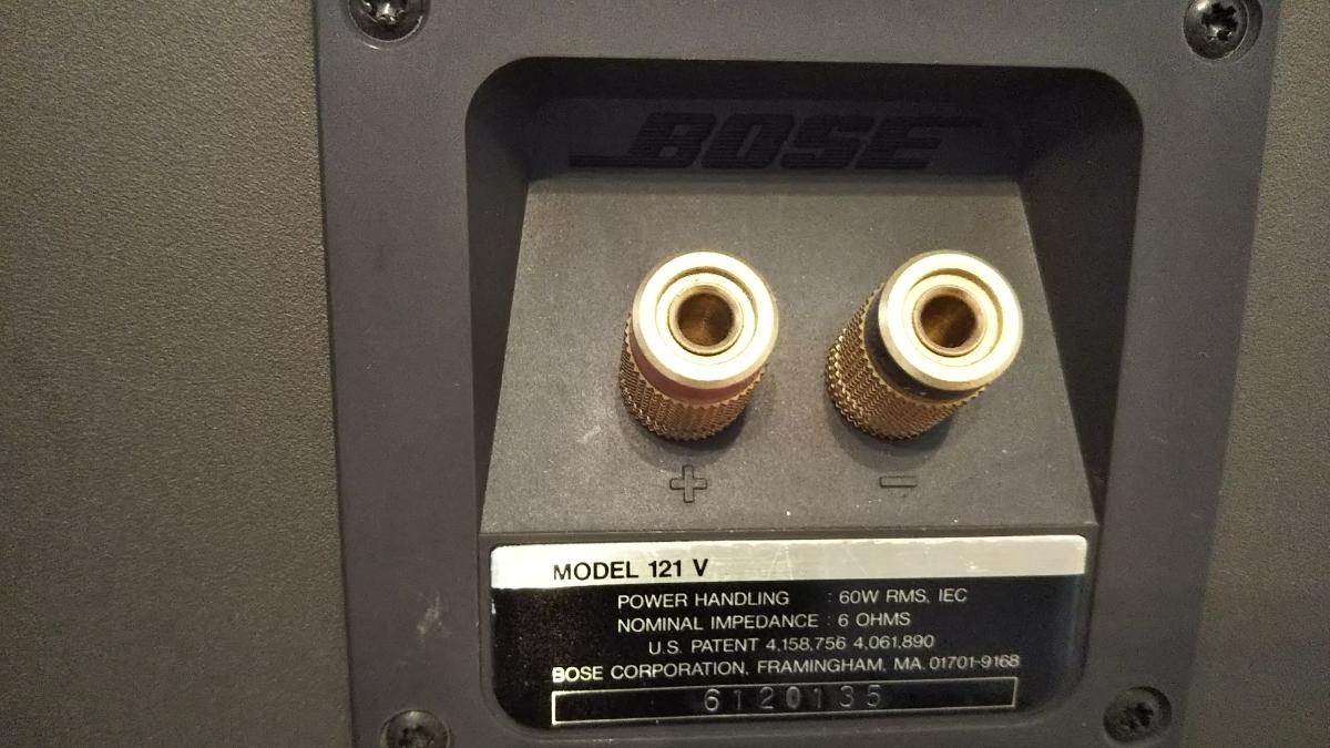 値下げしました!BOSE MODEL 121V ボーズ スピーカー ペア シリアル連番 _画像8