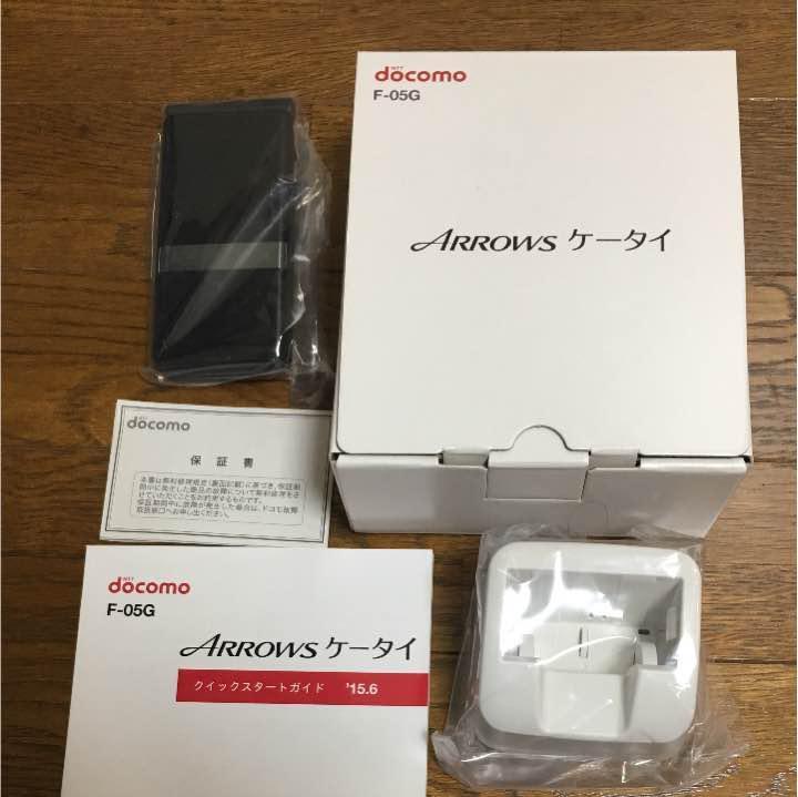 【超美品】ARROWS ケータイ ブラック黒色 ガラホ 2つ折り SIMフリー スマートフォン MVNO 格安SIM対応 LINE対応 F-05G 希少商品