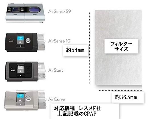 CPAP レスメドAIR SENSE10むけ フィルタ(1か月交換推奨)複数枚落札可能_画像2