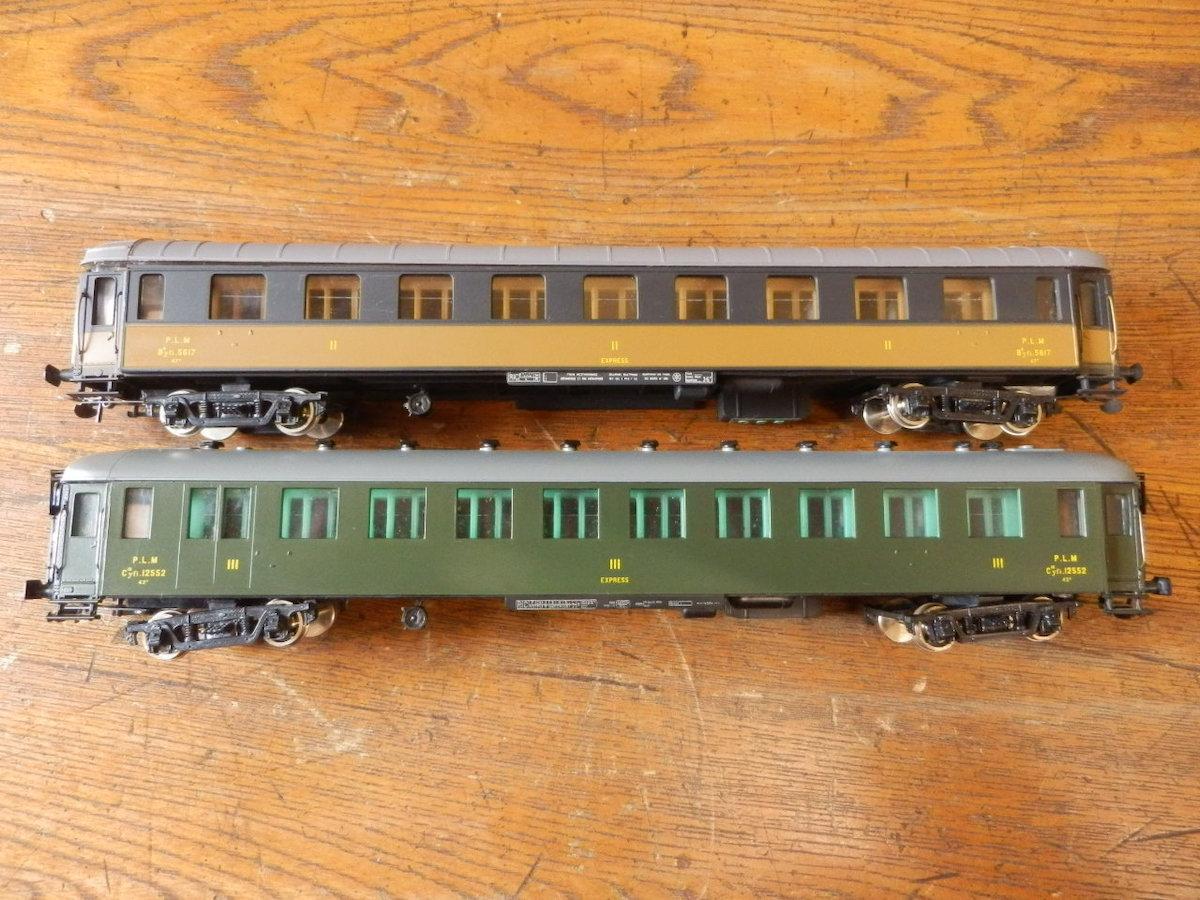 France Trains フランストレイン / HOゲージ 239 240 P.L.M 客車系 まとめて2輌set 中古現状品