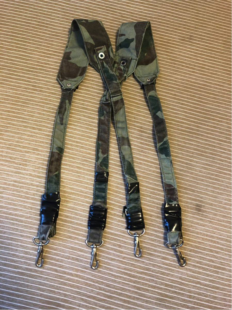 昭和自衛隊 旧装備 1型迷彩(熊笹迷彩)吊りバンド 64式 89式 OD _画像2