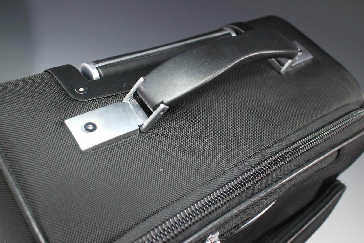 1円~極美【ポルシェ デザイン本物】キャリーバッグ/スーツケース/ナイロン/ブラック【S399T_画像6