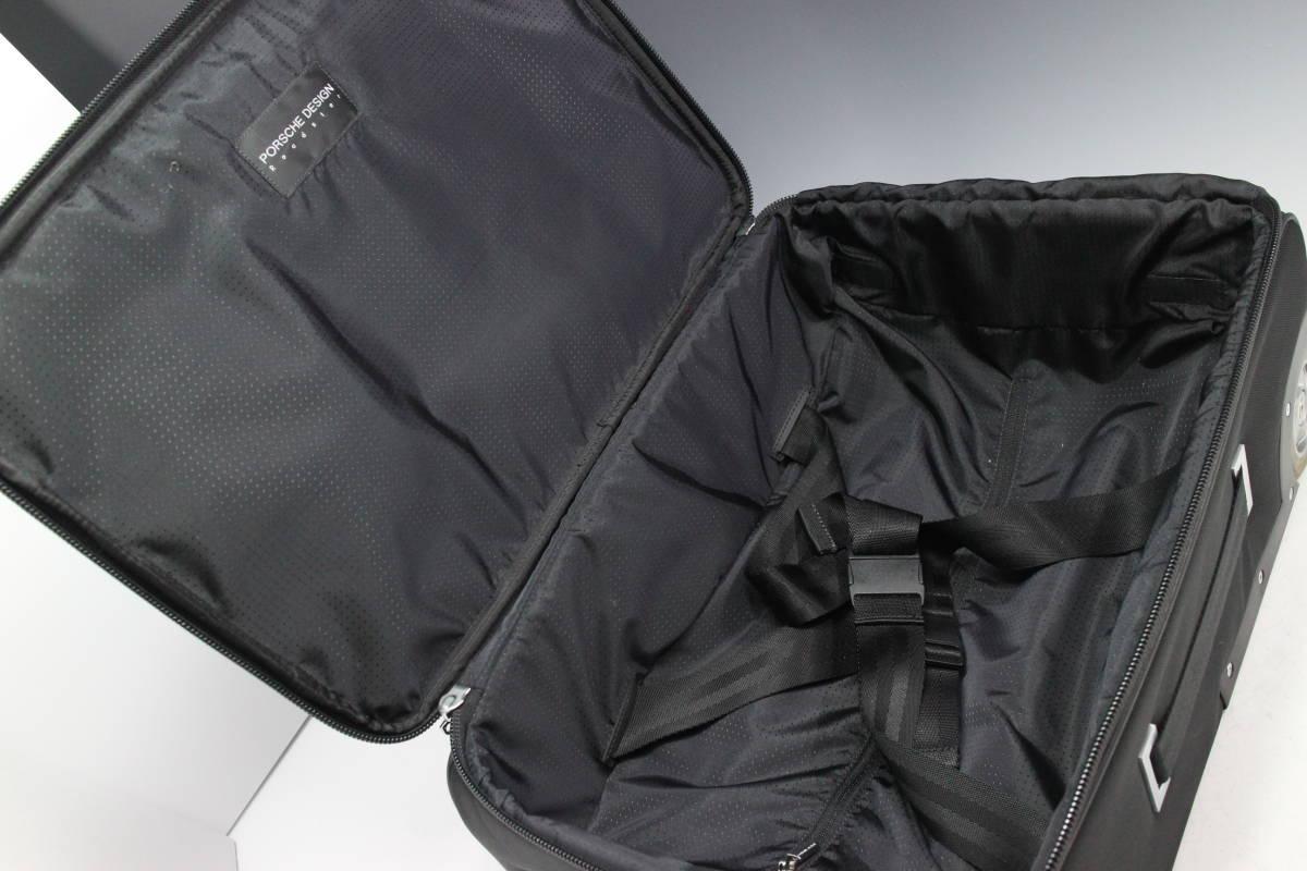 1円~極美【ポルシェ デザイン本物】キャリーバッグ/スーツケース/ナイロン/ブラック【S399T_画像8