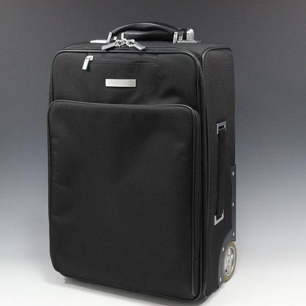1円~極美【ポルシェ デザイン本物】キャリーバッグ/スーツケース/ナイロン/ブラック【S399T