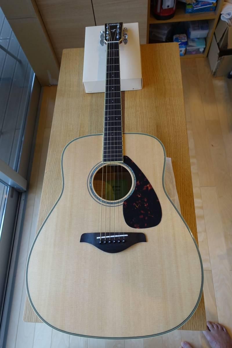 ヤマハアコースティックギターFG840、純正ソフトケース付き(中古品)_画像1