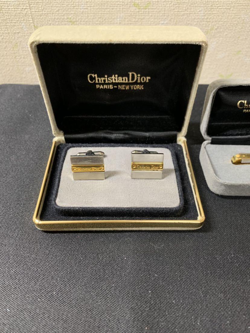 ☆Christian Dior クリスチャンディオール アクセサリー ネクタイピン カフスボタン2点おまとめ☆_画像6