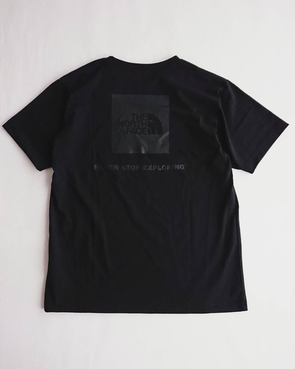 THE NORTH FACE ショートスリーブ スクエア ロゴ Tシャツ ブラック XL ザ ノース フェイス ボックスロゴ_画像1