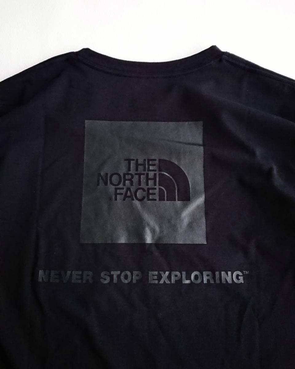 THE NORTH FACE ショートスリーブ スクエア ロゴ Tシャツ ブラック XL ザ ノース フェイス ボックスロゴ_画像2