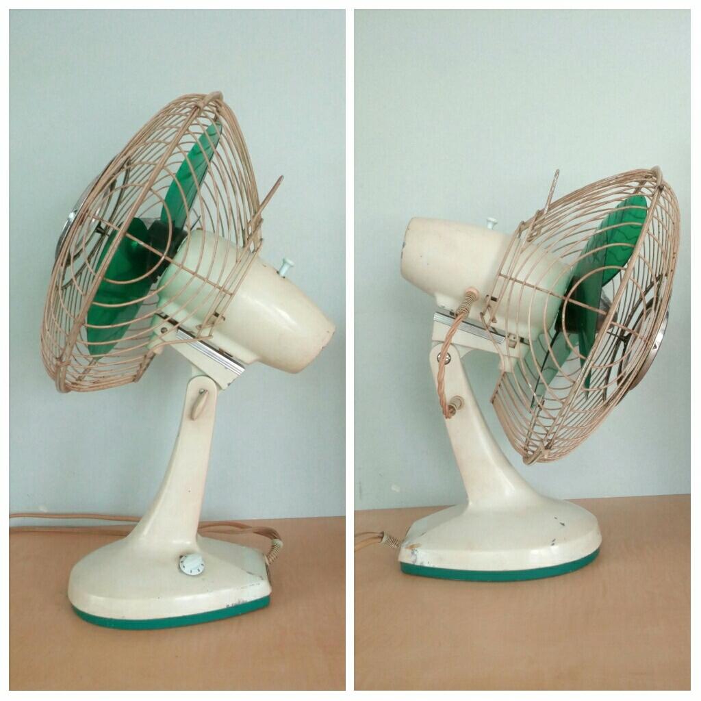 三菱 扇風機 稼働品 昭和レトロ レトロ扇風機 MITSUBISHI アンティーク インテリア 三枚羽 グリーン 首振り コレクション_画像6
