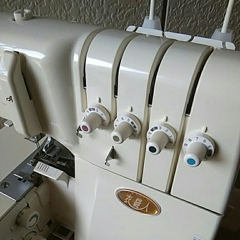 管理826 ★JUKI ジューキ ロックミシン 衣縫人 BL57 通電確認済 ジャンク品★★_画像10