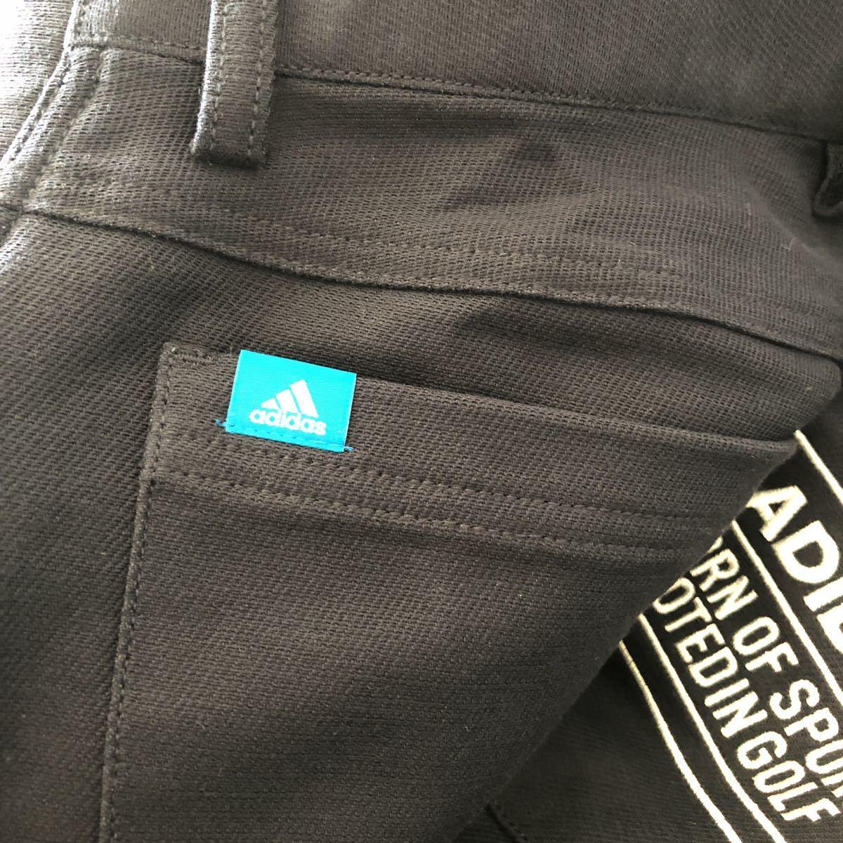 未使用品 アディダス adidas ゴルフウェア スラックス パンツ ストレッチ ネイビー 85_画像6