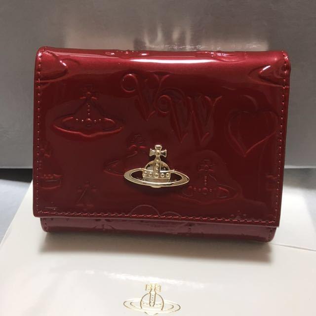 e2e0fc58d175 代購代標第一品牌- 樂淘letao - Vivienne Westwood 新品!ヴィヴィアンウェストウッドエナメル財布三つ折りがま口赤レッド3