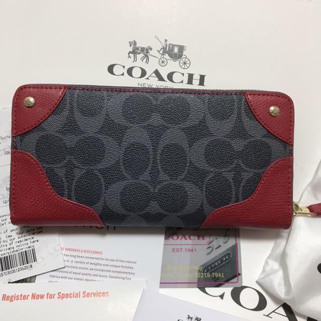 a9333e555de9 代購代標第一品牌- 樂淘letao - コーチ長財布新品レッド赤ネイビー紺2
