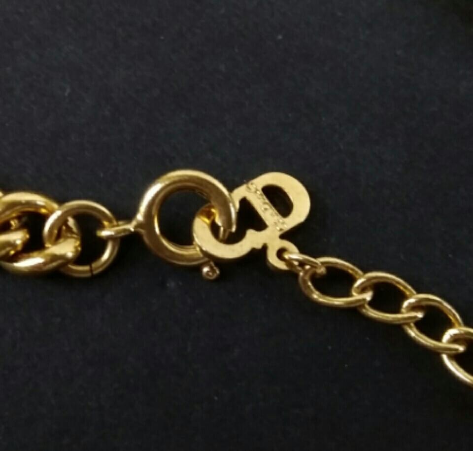 【H952】美品 Christian Dior クリスチャンディオール ネックレス イヤリングセット_画像5