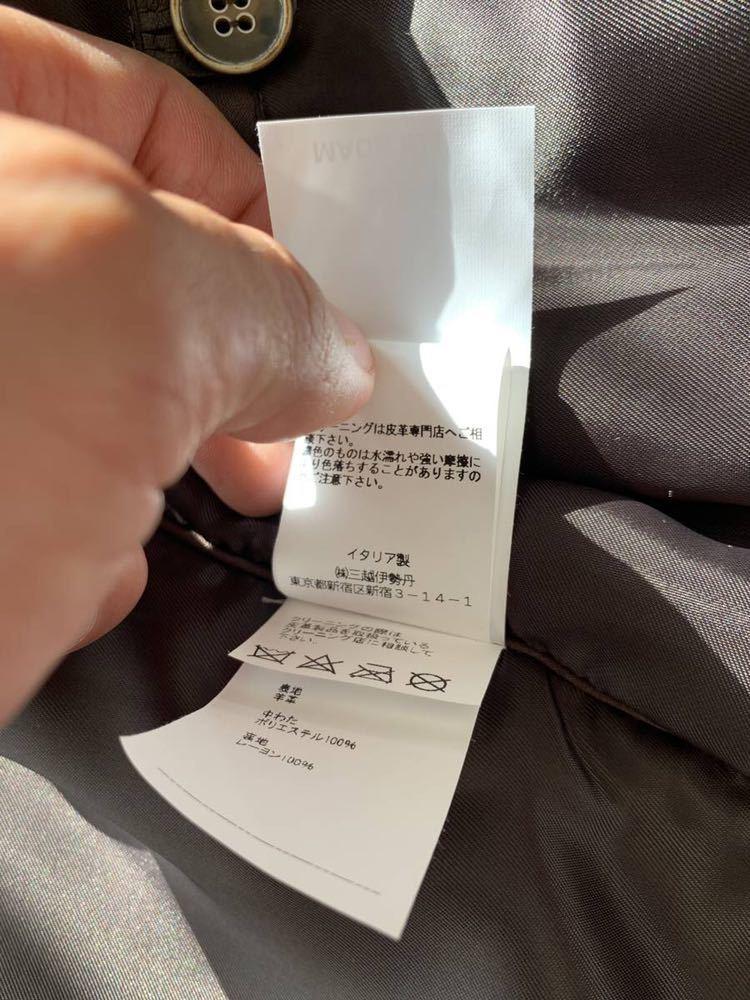 2018aw EMMETI ライダース Andrea エンメティ 貴重 サイズ 44 茶 LEON OCEANS Safari made in italy 激レア 干場 氏 着用色違い_画像7