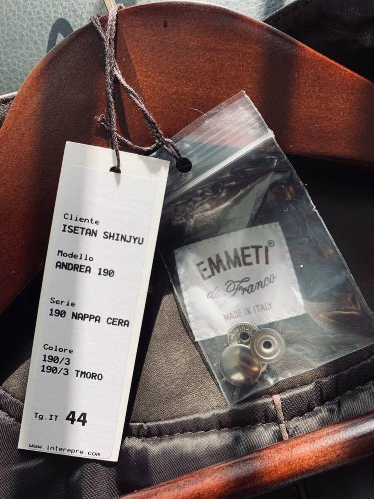2018aw EMMETI ライダース Andrea エンメティ 貴重 サイズ 44 茶 LEON OCEANS Safari made in italy 激レア 干場 氏 着用色違い_画像8