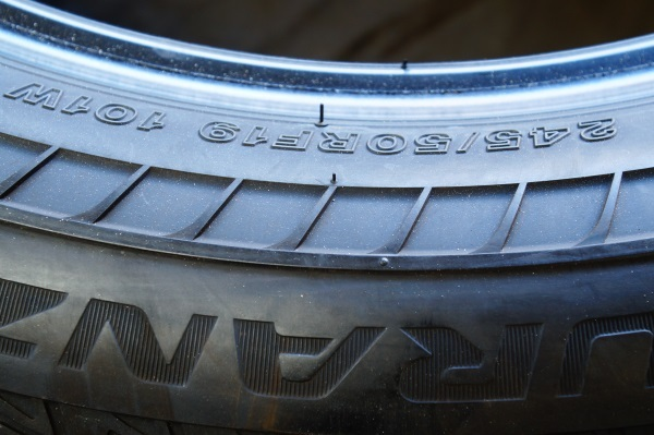 希少品 ブリヂストン ランフラット TURANZA T005A 2017年製 245/50R19 4本セット 送料 全国一律 宮城県名取市~_画像8