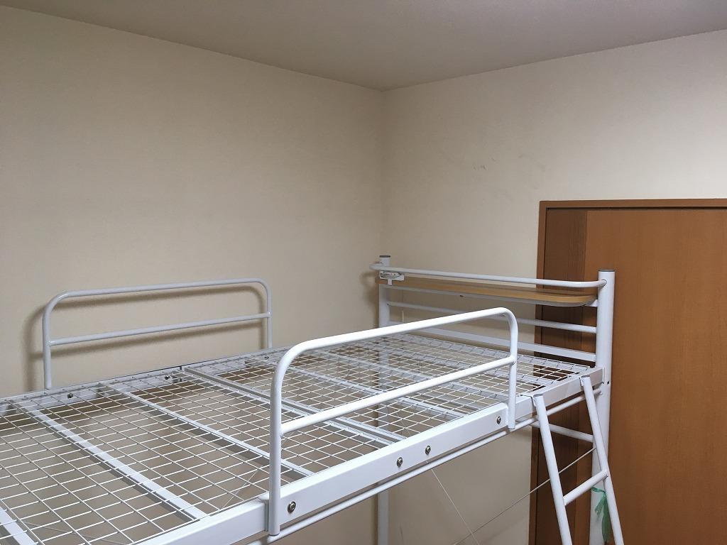 ロフトベッド 中古 程度良 枕元棚+コンセント ホワイト