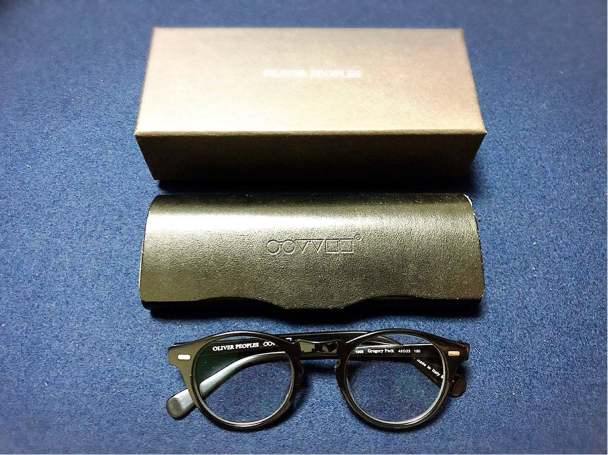 OLIVER PEOPLES オリバーピープルズ Gregory Peck 45口23 150 正規店購入品 度入りカラーレンズ付き