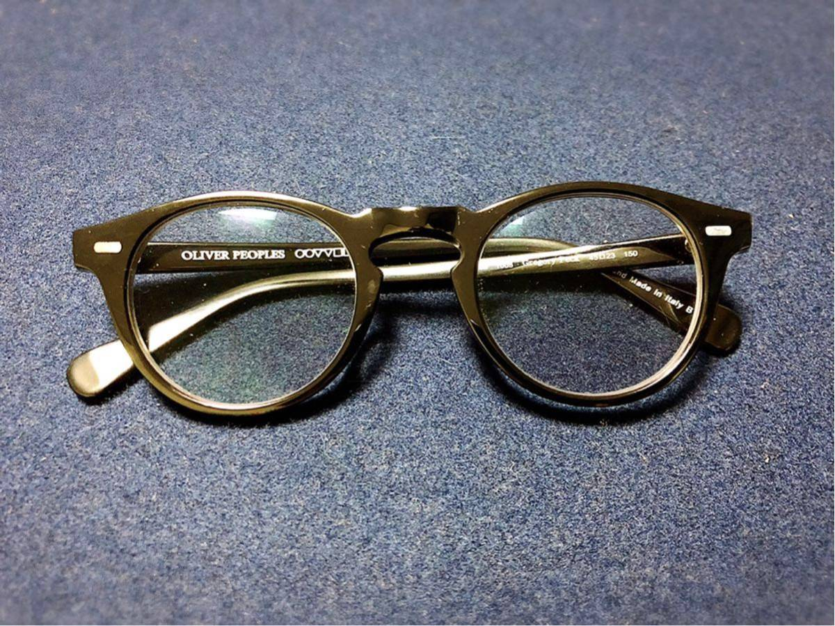 OLIVER PEOPLES オリバーピープルズ Gregory Peck 45口23 150 正規店購入品 度入りカラーレンズ付き _画像2