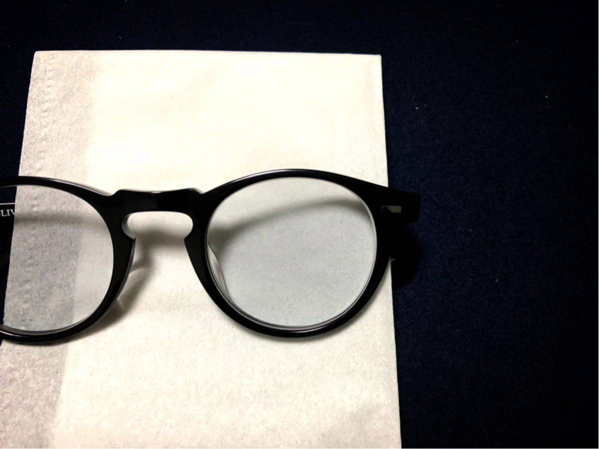 OLIVER PEOPLES オリバーピープルズ Gregory Peck 45口23 150 正規店購入品 度入りカラーレンズ付き _画像7