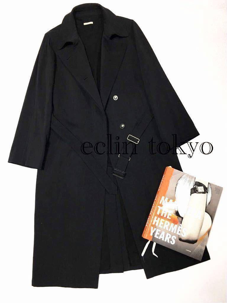 【E1329】超レア品 HERMES エルメス マルタン マルジェラ がデザインした 変身3WAY!《トレンチ/ステンカラー/ガウン》コート 男女着用可_本は付属致しません。