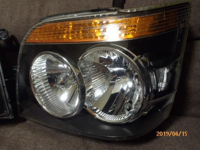 S331 321系 アトレー 後期純正HIDヘッドライト左右 レベライザー車両 クリア塗装品_画像2