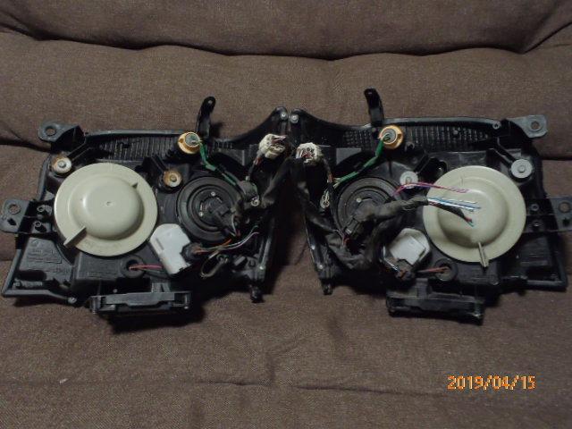 S331 321系 アトレー 後期純正HIDヘッドライト左右 レベライザー車両 クリア塗装品_画像6