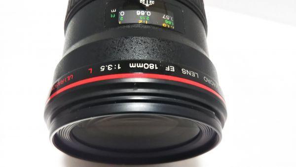 ★ 外観美品 ★ キャノン Canon EF 180mm F3.5 L MACRO USM マクロ 三脚座付 動作品_画像7