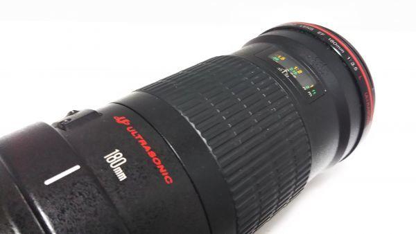 ★ 外観美品 ★ キャノン Canon EF 180mm F3.5 L MACRO USM マクロ 三脚座付 動作品_画像6