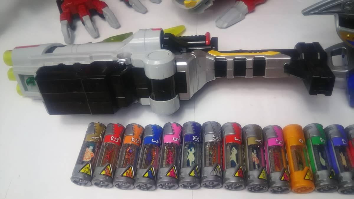 獣電戦隊キョウリュウジャー DX キョウリュウジン ガブリボルバー ガブリカリバー 獣電池 ガブティラデカーニバル まとめて 中古 スーパー_画像2