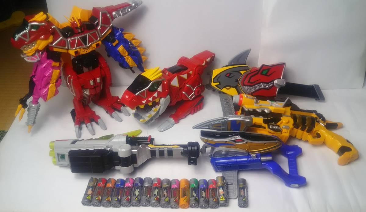 獣電戦隊キョウリュウジャー DX キョウリュウジン ガブリボルバー ガブリカリバー 獣電池 ガブティラデカーニバル まとめて 中古 スーパー