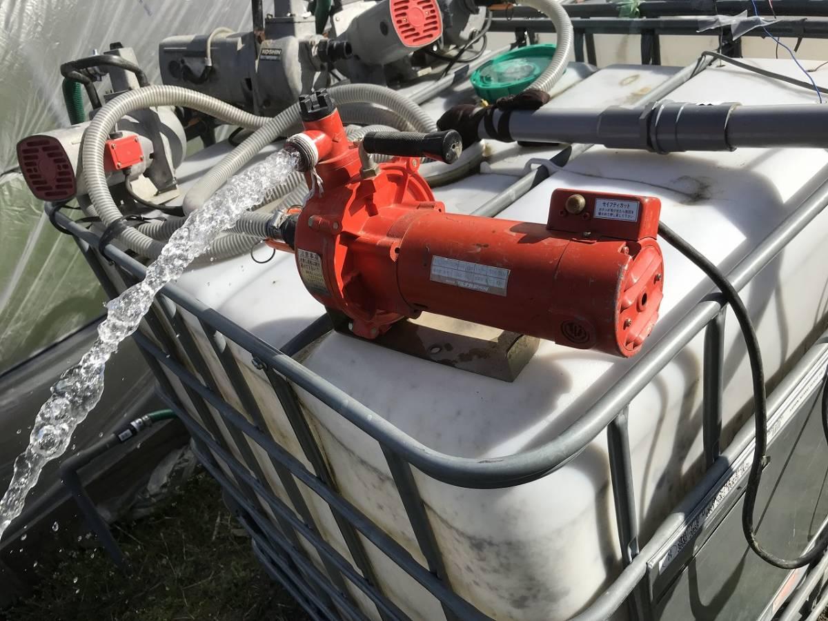 電動ポンプ 100V 散水 冠水 ビニールハウス
