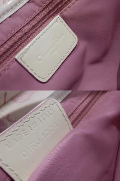 1円 Dior ディオール サドル 花柄 トロッター キャンバス×エナメル ショルダー バッグ_画像10