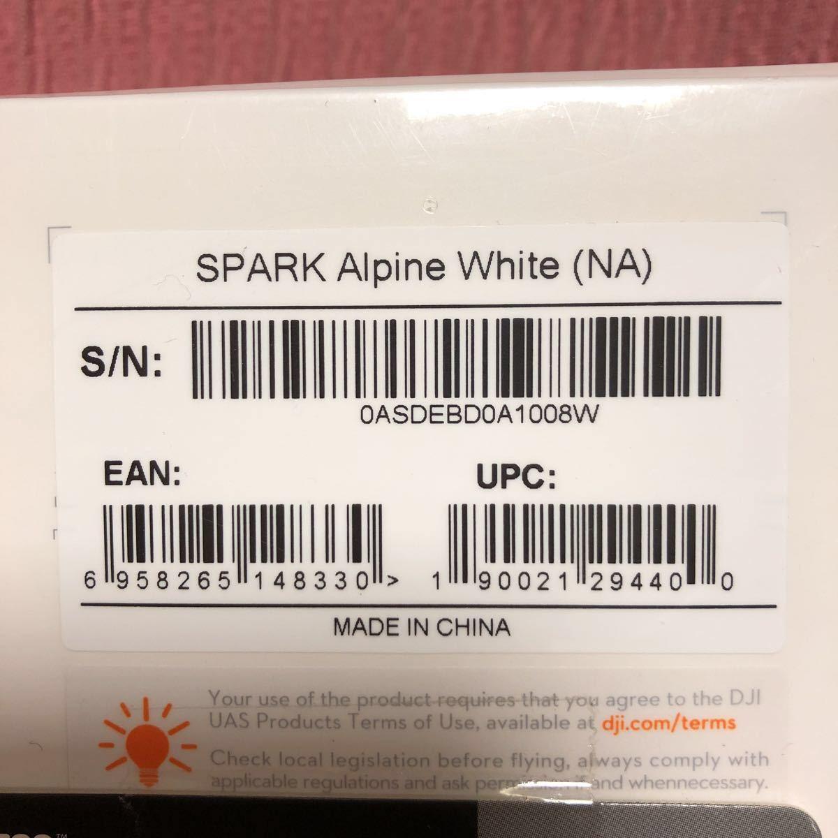 即決 送料無料 新品未開封 SPARK Alpine White (NA) マイクロsdカード16GB付き_画像5