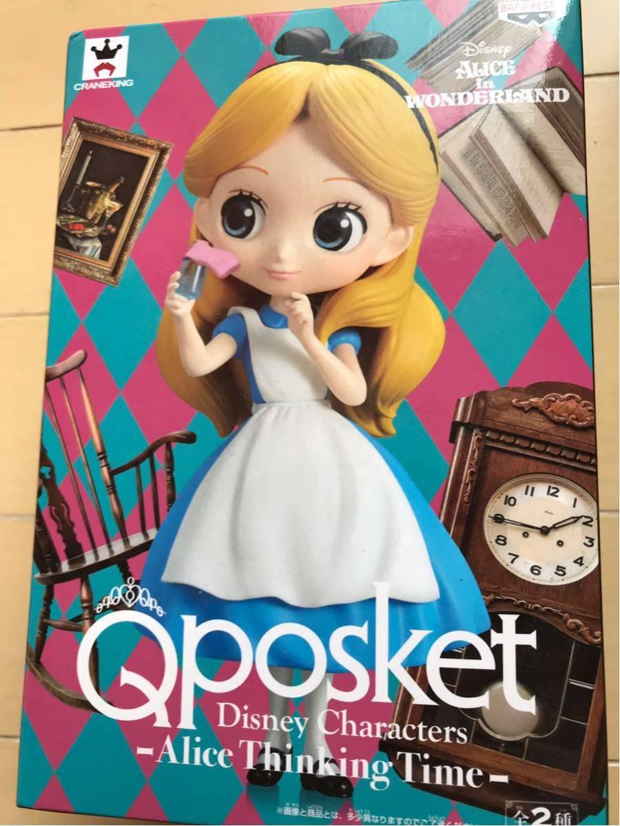新品未開封 Qposket Disney Characters Alice Thinking Time アリス フィギュア_画像1