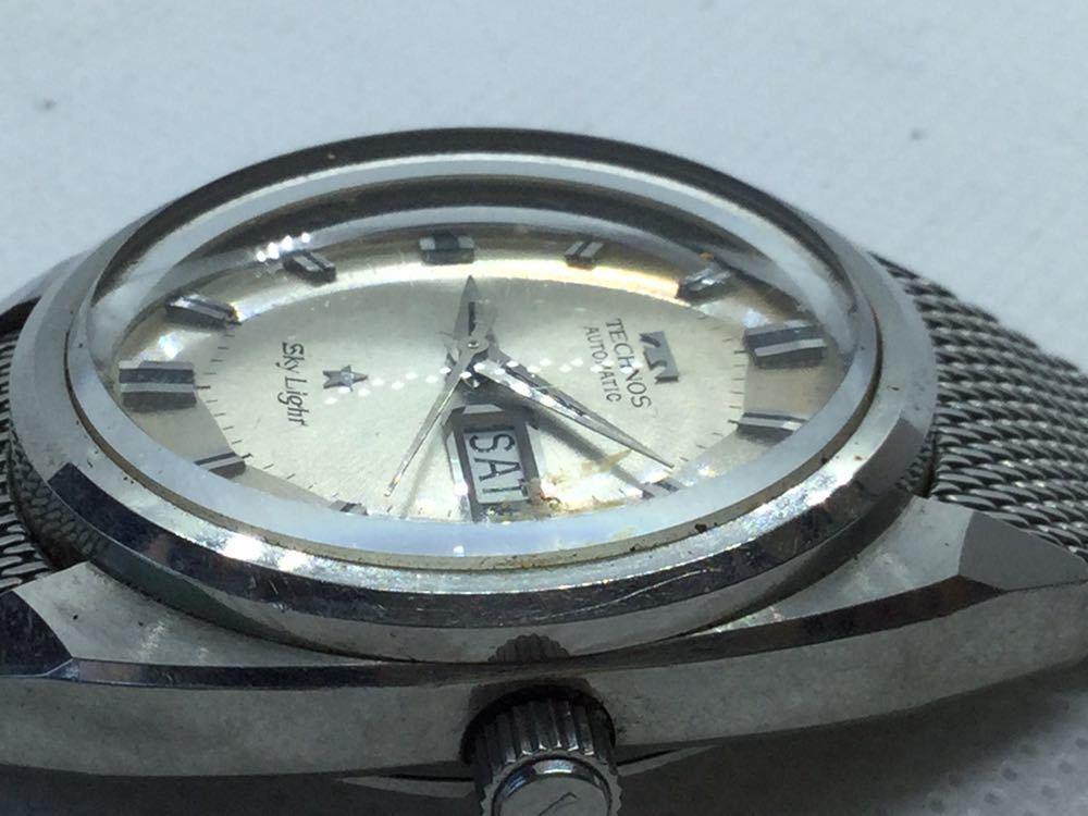 5 TECHNOS テクノス Sky Lighr AUTOMATIC自動巻 オートマチック オートマ アナログ メンズ 男性 腕時計 _画像8