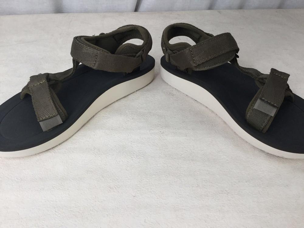 未使用 美品 Teva テバ サンダル S/N 1016935 24.0cm カーキ サンダル アウトドア 靴 ビーチ 海 キャンプ レディース 女性_画像9