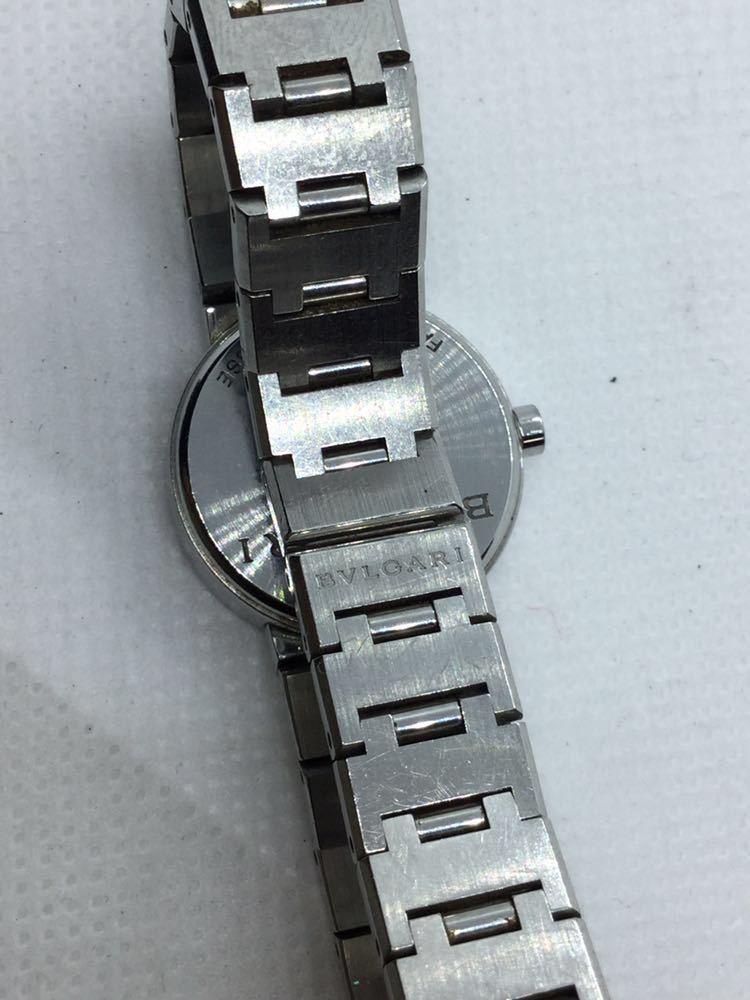 電池交換済み BVLGARI ブルガリ BVLGARIBVLGARI ブルガリブルガリBB23 SS D401189 黒文字盤 腕時計 レディース 女性 _画像7