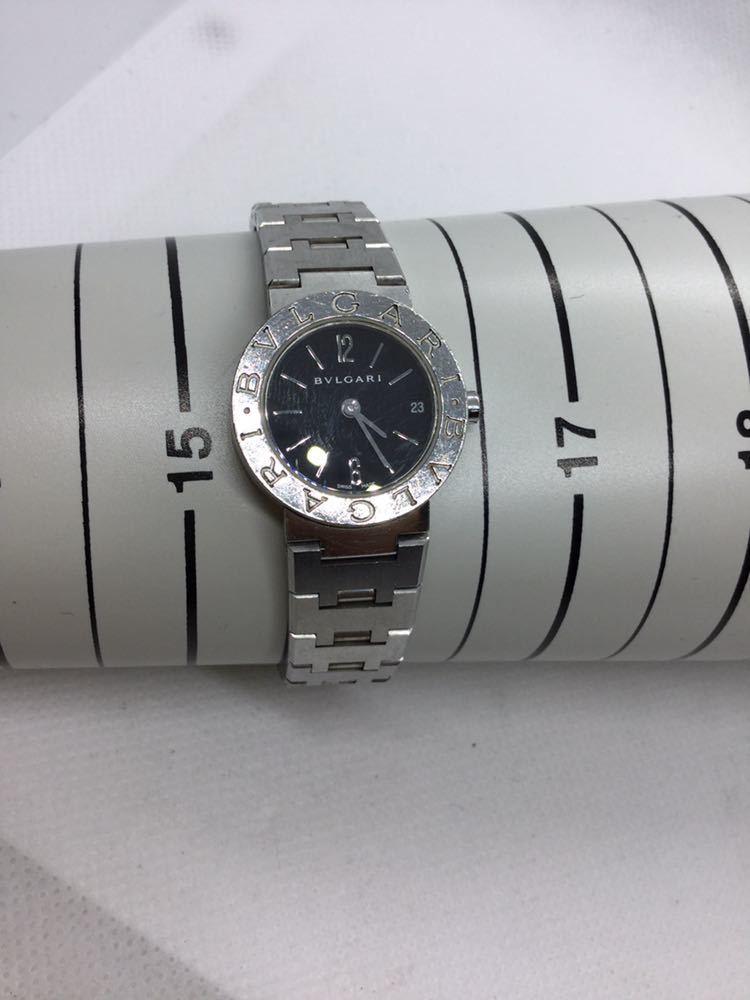 電池交換済み BVLGARI ブルガリ BVLGARIBVLGARI ブルガリブルガリBB23 SS D401189 黒文字盤 腕時計 レディース 女性 _画像10