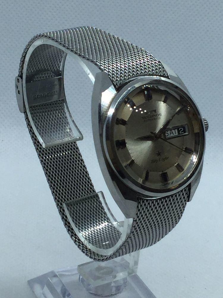 5 TECHNOS テクノス Sky Lighr AUTOMATIC自動巻 オートマチック オートマ アナログ メンズ 男性 腕時計 _画像5
