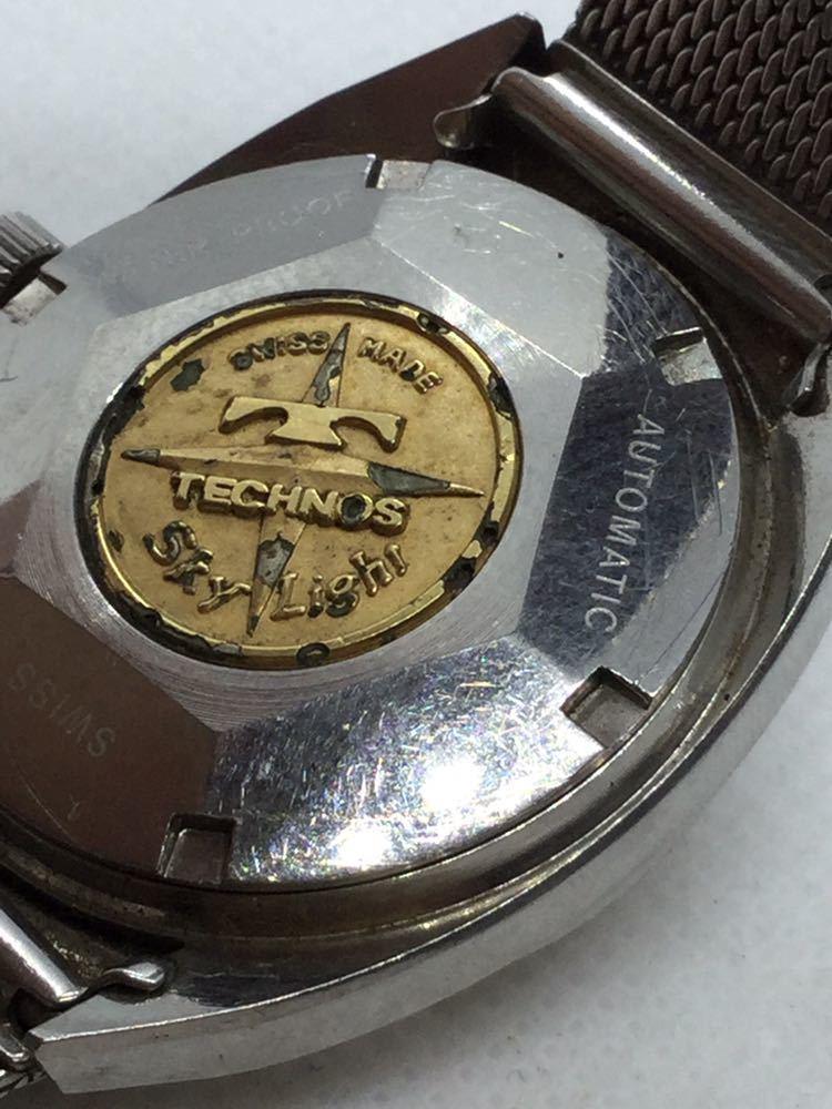 5 TECHNOS テクノス Sky Lighr AUTOMATIC自動巻 オートマチック オートマ アナログ メンズ 男性 腕時計 _画像6