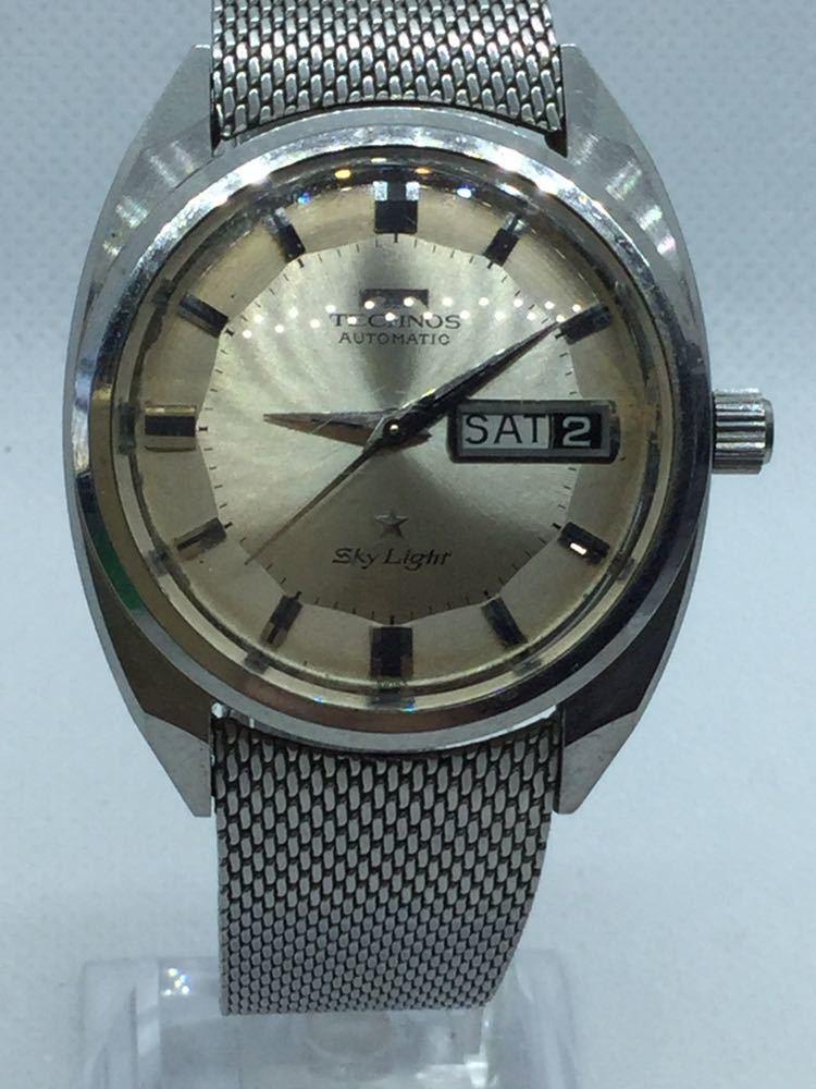 5 TECHNOS テクノス Sky Lighr AUTOMATIC自動巻 オートマチック オートマ アナログ メンズ 男性 腕時計