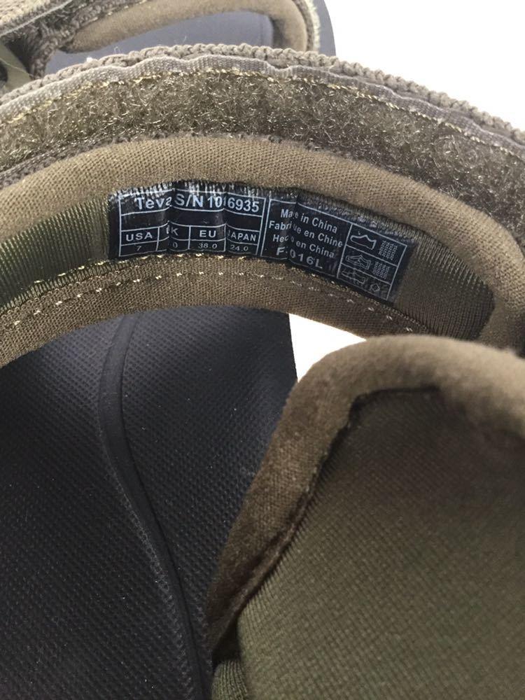 未使用 美品 Teva テバ サンダル S/N 1016935 24.0cm カーキ サンダル アウトドア 靴 ビーチ 海 キャンプ レディース 女性_画像10
