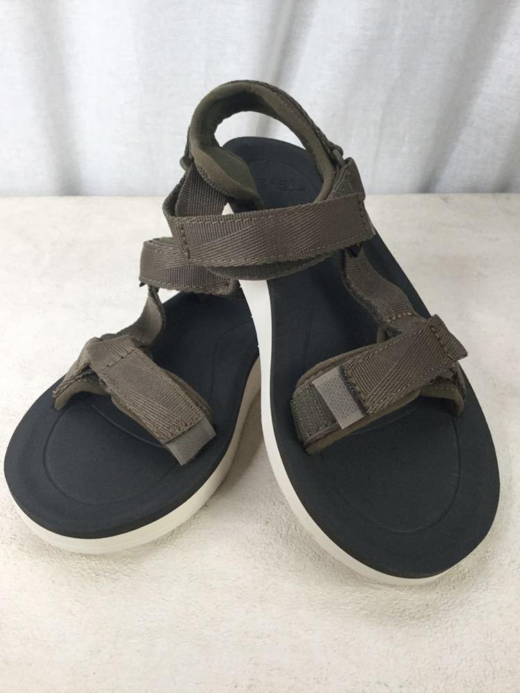 未使用 美品 Teva テバ サンダル S/N 1016935 24.0cm カーキ サンダル アウトドア 靴 ビーチ 海 キャンプ レディース 女性