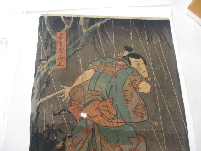 浮世絵の古美術・武士画・名古屋山三・作者名-豊国・江戸時代_画像6