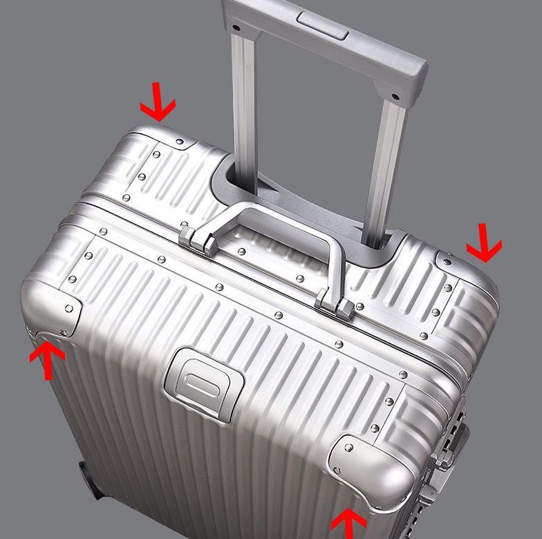 【定価30万】高品質 アルミマグネシウム合金キャリーケース 機内持ち込み可スーツケース TSAロック搭載 ビジネス トラベルバッグ 20インチ_画像4